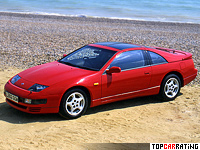 1989 Nissan Fairlady 300ZX Twin Turbo (Z32) = 250 kph, 283 bhp, 5.6 sec.