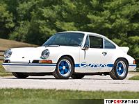 1972 Porsche 911 Carrera RS 2.7 Sport (901) = 245 kph, 210 bhp, 5.8 sec.