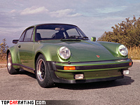 1975 Porsche 911 Turbo 3.0 Coupe (930) = 246 kph, 260 bhp, 6.1 sec.