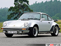 1978 Porsche 911 Turbo 3.3 Coupe (930) = 261 kph, 300 bhp, 5 sec.