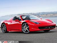 2011 Ferrari 458 Spider = 320 kph, 570 bhp, 3.4 sec.
