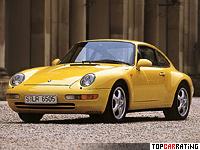 1993 Porsche 911 Carrera 3.6 Coupe (993) = 267 kph, 272 bhp, 5.2 sec.