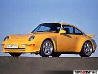 1995 Porsche 911 Carrera RS 3.8 Coupe (993) = 277 kph, 300 bhp, 5 sec.