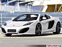 2013 McLaren MP4-12C Spider Gemballa GT = 330 kph, 625 bhp, 3.1 sec.