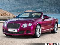 2013 Bentley Continental GT Speed Convertible = 325 kph, 625 bhp, 4.1 sec.