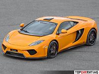 2013 McLaren MP4-12C FAB Design Chimera = 329 kph, 625 bhp, 3.1 sec.