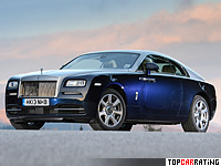 2013 Rolls-Royce Wraith = 250 kph, 632 bhp, 4.6 sec.