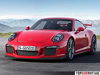 2013 Porsche 911 GT3 (991) = 315 kph, 475 bhp, 3.5 sec.