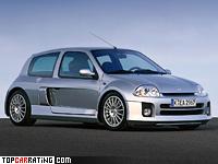 2001 Renault Clio V6 Sport (Mk1) = 237 kph, 226 bhp, 6.1 sec.