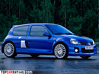 2003 Renault Clio V6 Sport (Mk2) = 246 kph, 255 bhp, 6 sec.