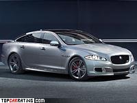2013 Jaguar XJR = 280 kph, 550 bhp, 4.6 sec.