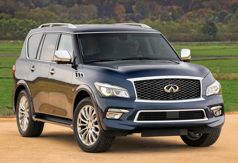 2014 infiniti qx80 5 6 z62 specifications photo price information rating. Black Bedroom Furniture Sets. Home Design Ideas