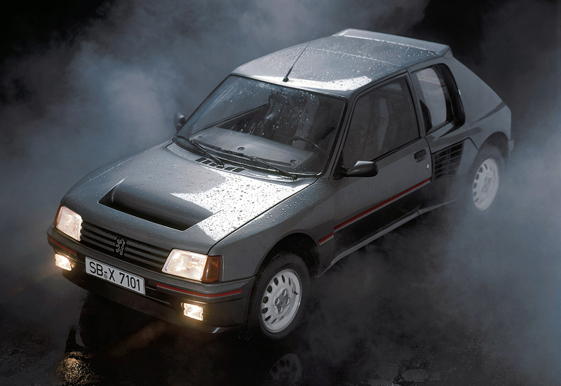 1984 peugeot 205 turbo 16 specifications photo price information rating. Black Bedroom Furniture Sets. Home Design Ideas