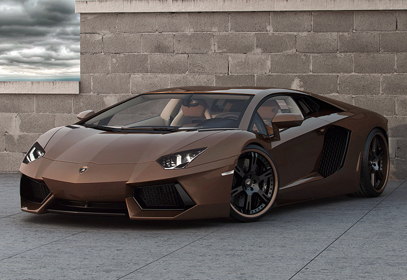 2012 Lamborghini Aventador LP777-4 Wheelsandmore Chocolate Rabbioso