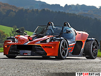 2013 KTM X-Bow GT Wimmer RS = 246 kph, 435 bhp, 3.3 sec.