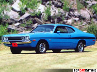 1972 Dodge Dart Demon 340 (LM29) = 195 kph, 240 bhp, 7.1 sec.