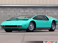 1968 Bizzarrini Manta = 316 kph, 353 bhp, 3.8 sec.