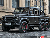 2016 Kahn Design Flying Huntsman 110 6X6 Defender Double Cab Pickup = 150 kph, 170 bhp, 17 sec.