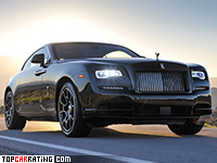 2016 Rolls-Royce Wraith Black Badge = 250 kph, 632 bhp, 4.5 sec.