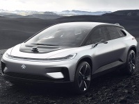2017 Faraday Future FF 91 = 300 kph, 1064 bhp, 2.45 sec.