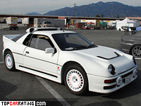 1986 Ford RS200 Evolution = 190 kph, 588 bhp, 3.4 sec.