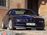 1992 BMW Alpina B12 5.7 Coupe = 300 kph, 416 bhp, 5.8 sec.